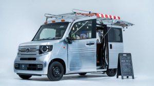 mobil honda modifikasi bertema open cafe